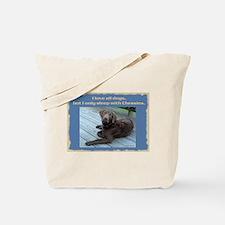 Sleep with Chessies Tote Bag