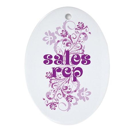 Sales Rep Ornament (Oval)