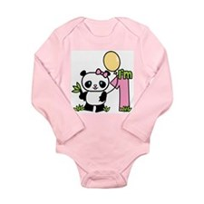 Lil' Panda Girl First Birthda Long Sleeve Infant B