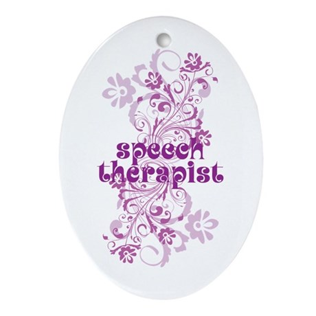 Speech Therapist Ornament (Oval)