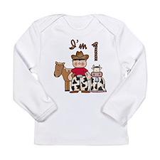 Cowboy First Birthday Long Sleeve Infant T-Shirt