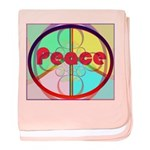 Abstract Peace Sign baby blanket