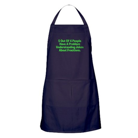 Fraction Joke Apron (dark)