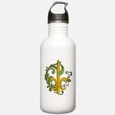 Christmas Fleur de lis Water Bottle