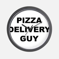 Pizza Delivery Guy Wall Clock