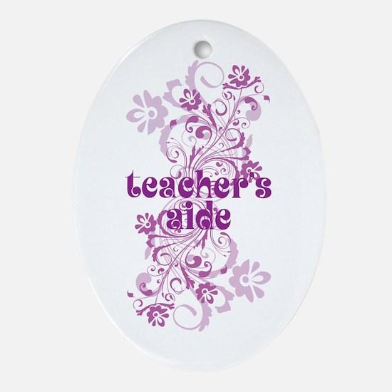 Teachers Aide Ornament (Oval)