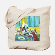 """Dog in the Kitchen"" Tote Bag"