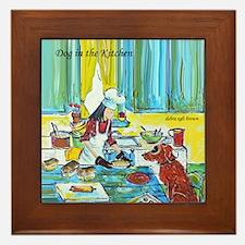 """""""Dog in the Kitchen"""" Framed Tile"""