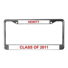 Hewitt Class of 2011 License Plate Frame