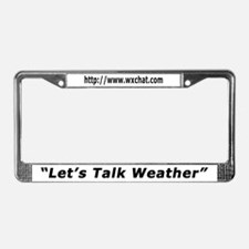 WxChat.com License Plate Frame