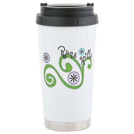 Runs Hills Stainless Steel Travel Mug