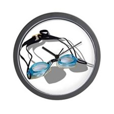 Swimming Goggles Wall Clock