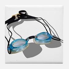 Swimming Goggles Tile Coaster