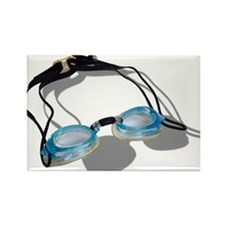 Swimming Goggles Rectangle Magnet (10 pack)