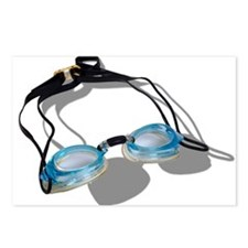 Swimming Goggles Postcards (Package of 8)