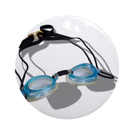 Swimming Goggles Ornament (Round)