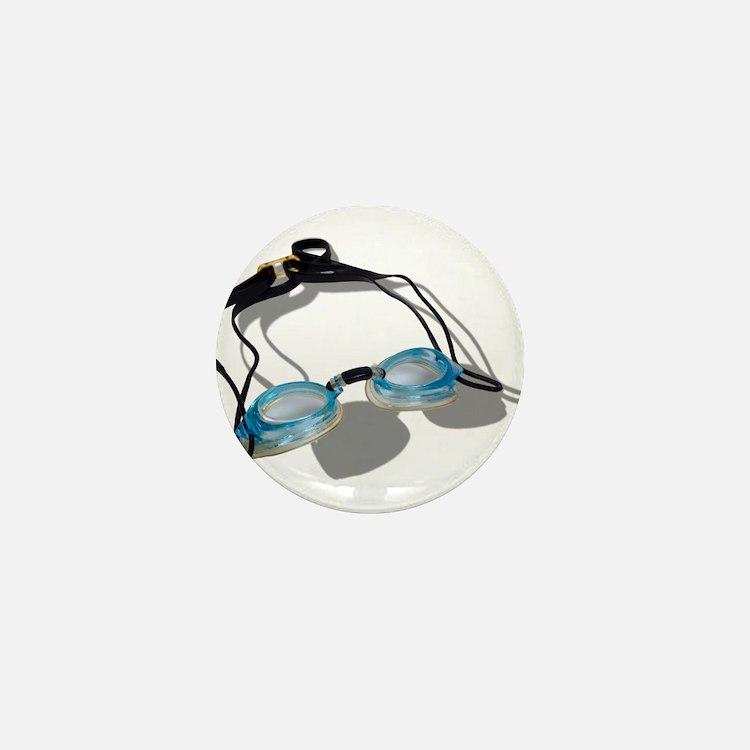 Swimming Goggles Mini Button