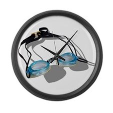 Swimming Goggles Large Wall Clock