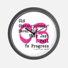 Old OB's Pink Wall Clock