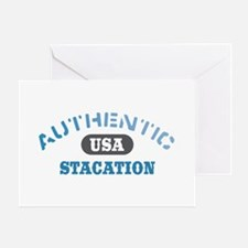Authentic USA Stacation Greeting Card