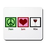 Peace Love Wine Mousepad