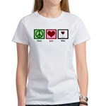 Peace Love Wine Women's T-Shirt