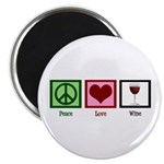 Peace Love Wine Magnet