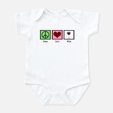 Peace Love Wine Infant Bodysuit