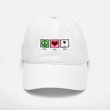Peace Love Wine Baseball Baseball Cap