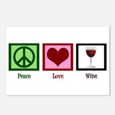 Peace Love Wine Postcards (Package of 8)