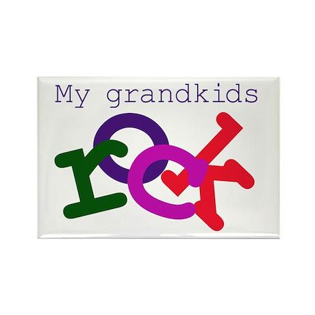 My Grandkids Rock Rectangle Magnet (10 pack)