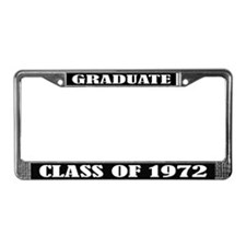 Class of 1972 License Plate Frame