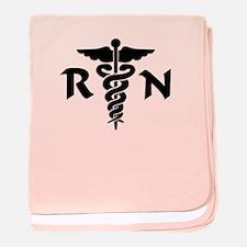 RN Medical Symbol baby blanket