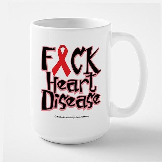 Fuck Heart Disease Large Mug