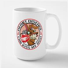 Heart Disease Can Kiss My Ass Large Mug