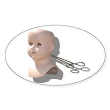 Creepy Doll Head Decal