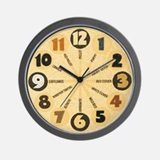 Crop art clock 8.5 inches diameter
