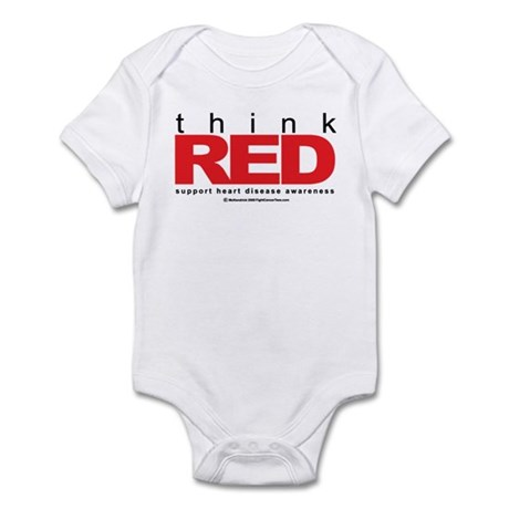 Think Red Infant Bodysuit