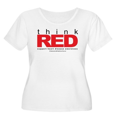 Think Red Women's Plus Size Scoop Neck T-Shirt