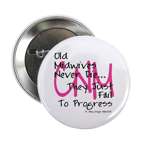 "Old Midwives Pink 2.25"" Button"