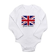 British Flag Union Jack Long Sleeve Infant Bodysui