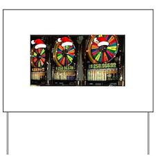 Las Vegas Christmas Slot Mach Yard Sign