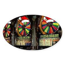 Las Vegas Christmas Slot Mach Decal