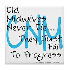 Old Midwives Blue Tile Coaster