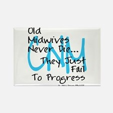 Old Midwives Blue Rectangle Magnet