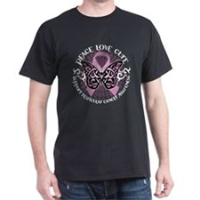 Testicular Cancer Tribal Butt T-Shirt
