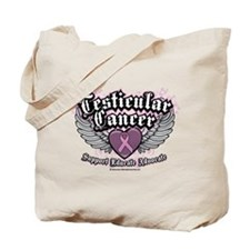 Testicular Cancer Wings Tote Bag