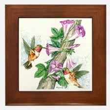 Humming Birds Framed Tile