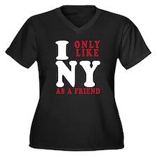 I Only Like New York Women's Plus Size V-Neck Dark