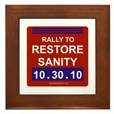 Unique Rally to restore sanity Framed Tile